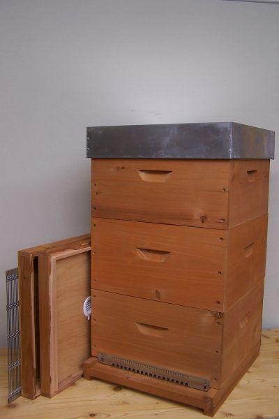 11er Normalmaß Holzbeute lasiert komplett -Leichtgewicht