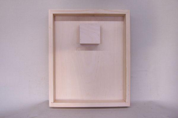 Futterzarge mit Aufstiegshilfe, aus Holz 10 L