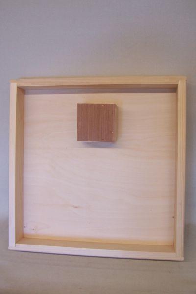 Futterzarge mit Aufstiegshilfe, aus Holz 12L