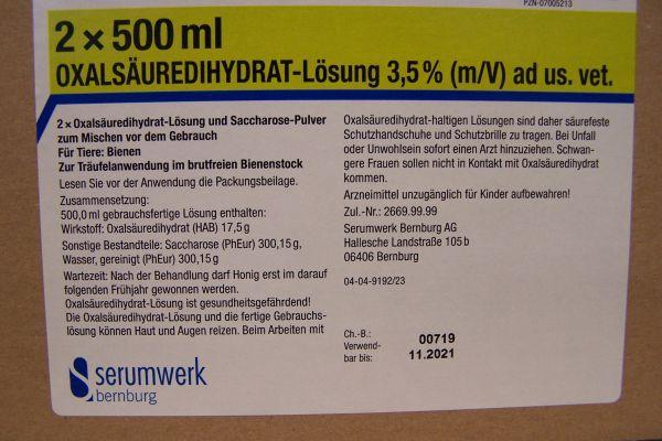 Oxalsäuredihydrat-Lösung 3,5 % (m/V) ad us. vet.